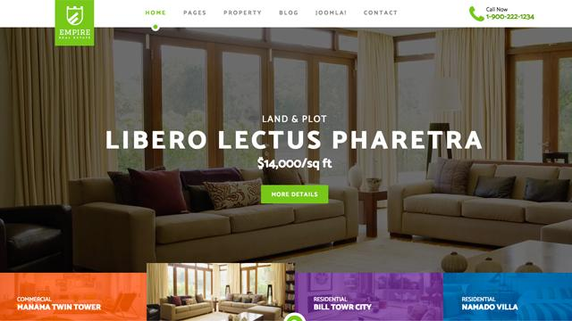 Template Joomla per bed and breakfast, hotel, appartamenti in affitto