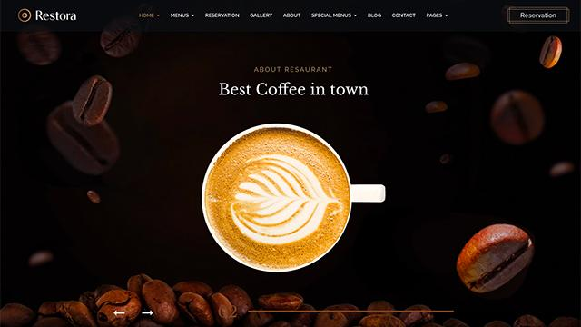 Template Joomla per bar, caffetteria, ristorante, coffee shop, pub.